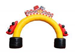 arche gonflable voiture de course