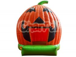 château gonflable halloween citrouille