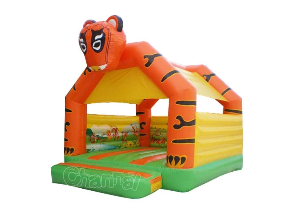 chateau gonflable tigre de dessin animé