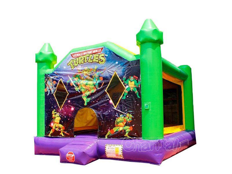 château gonflable tortue ninja pour enfants pas cher