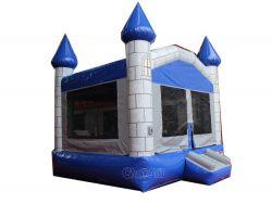 château gonflable bleu