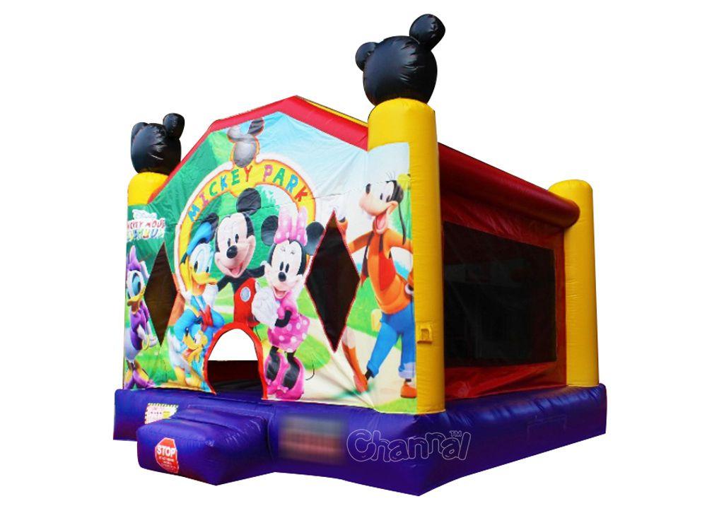 chateau gonflable la maison de mickey