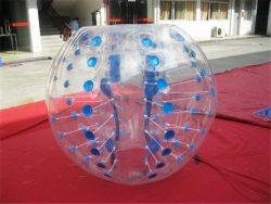 foot dans ballon gonflable