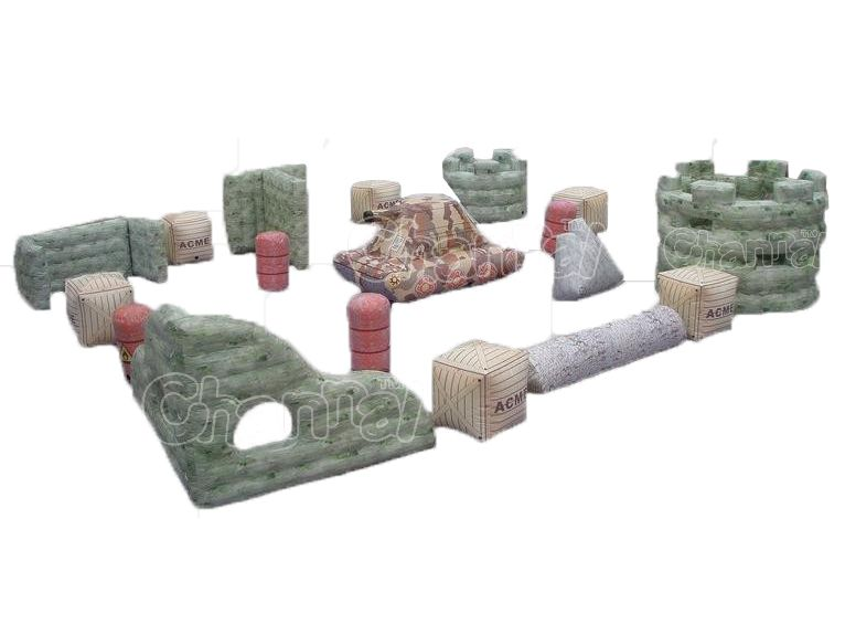 set bunker bataille pour paintball