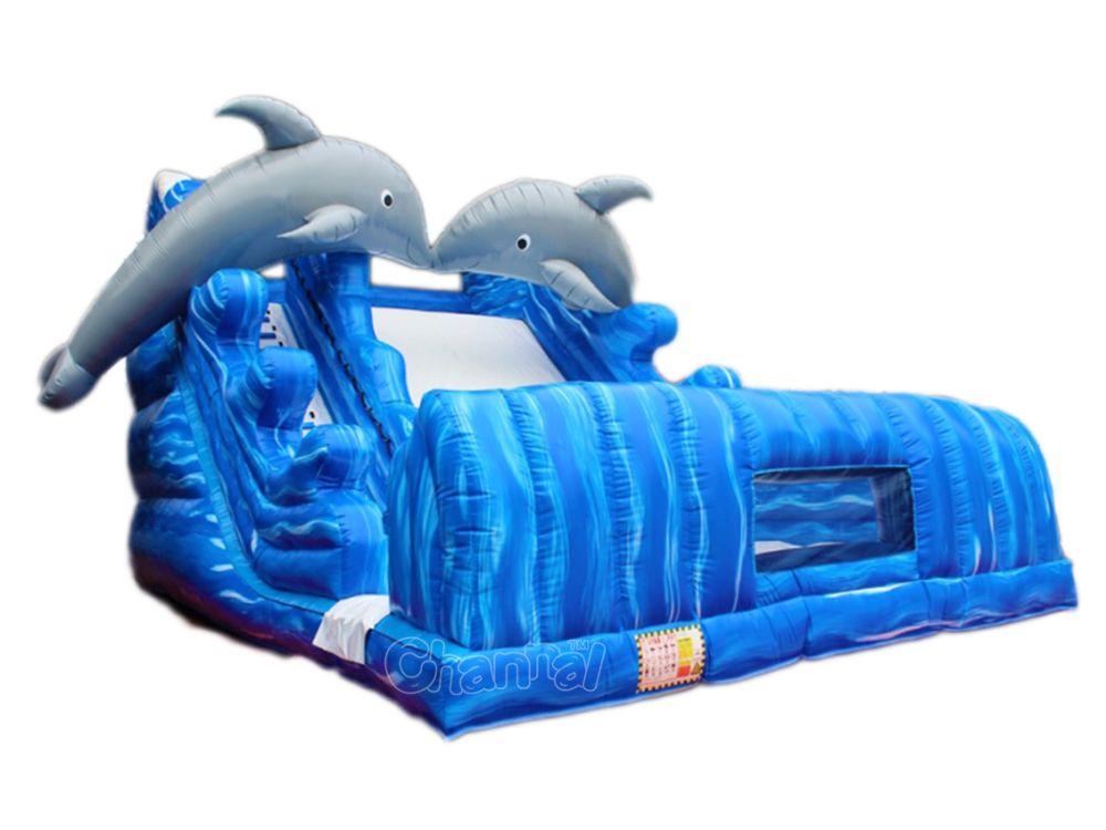 toboggan gonflable dauphin à vendre