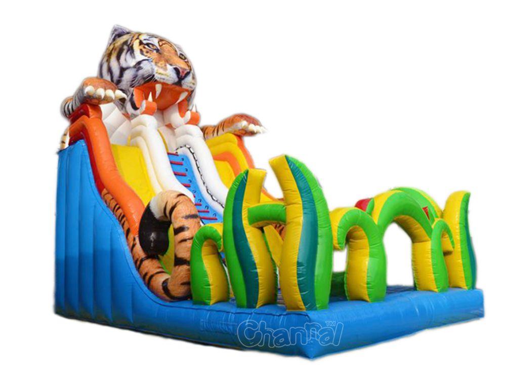 toboggan gonflable tigre