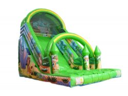 toboggan gonflable zoo sauvage