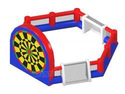 terrain de football à trois côtés gonflable avec foot dart
