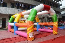 cage de tir de football gonflable coloré