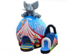 chateau gonflable tente circus éléphant