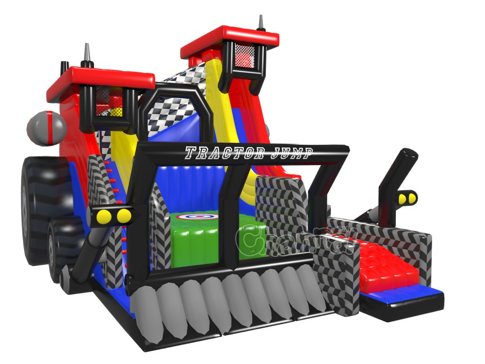 chute libre saut tracteur et toboggan