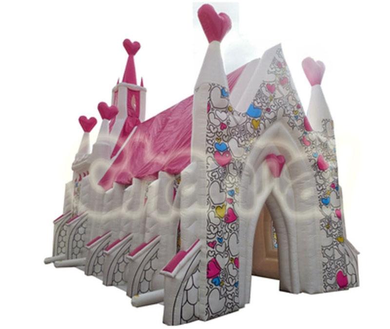 église gonflable pour mariage