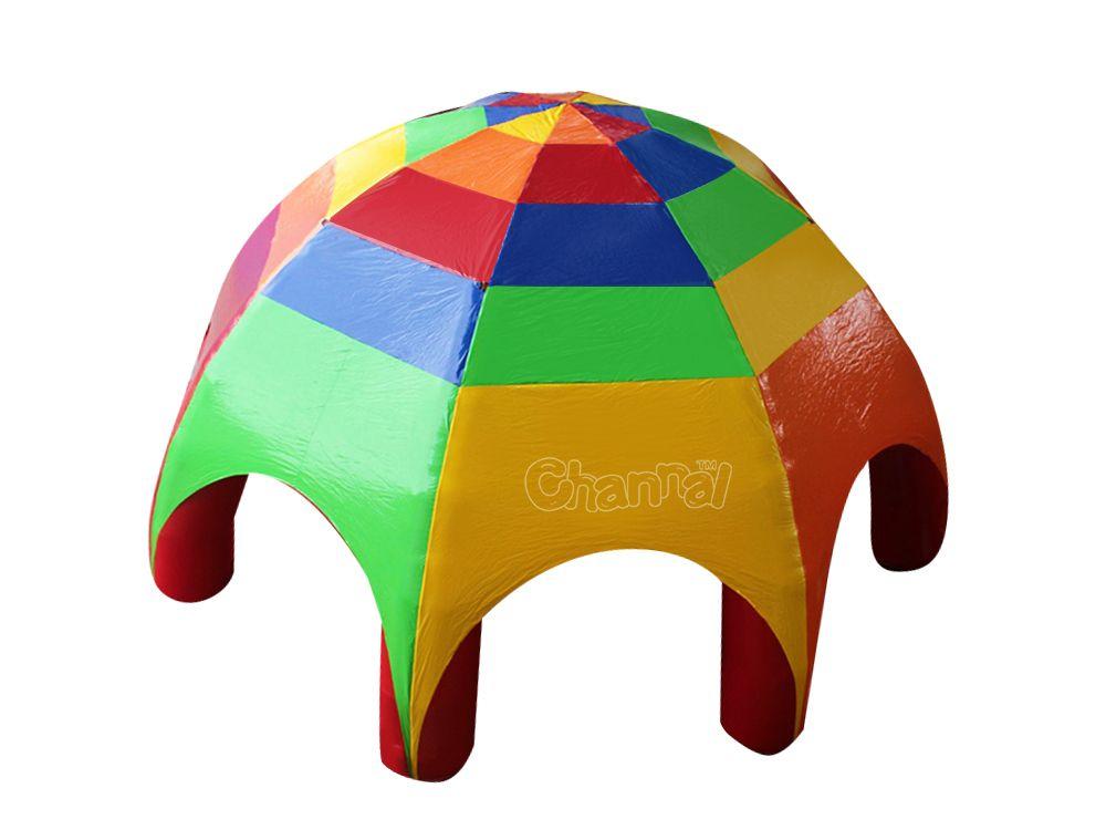 tente dôme gonflable d'araignée rainbow