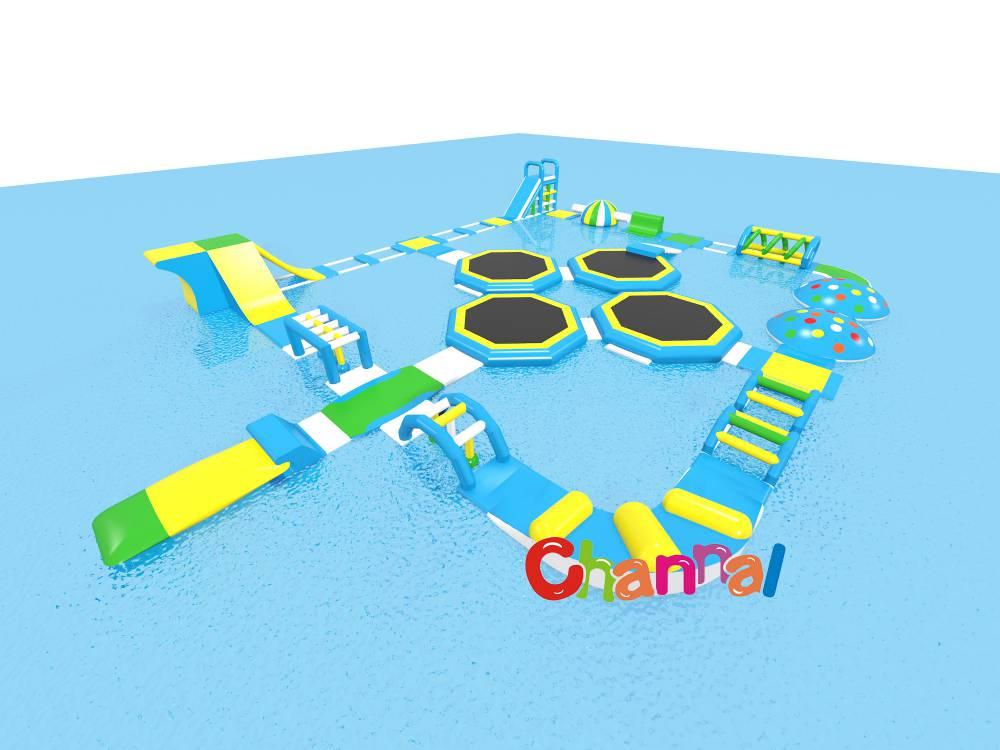 parc aquatique gonflable flottant géant a vendre